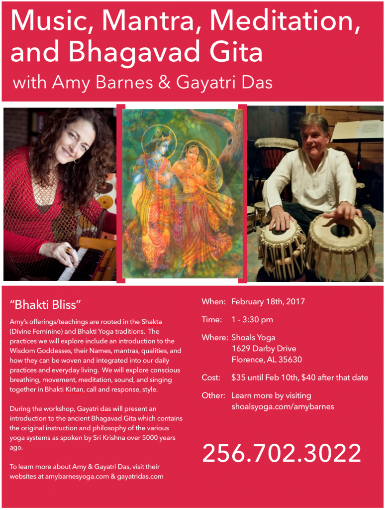I Am Particularly Excited About Collaborating With My Dear Bhakti Brother Gayatri Das For This Workshop At Shoals Yoga Thank You Danielle Snoddy